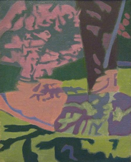 """Pink Apple Tree   , 1998,Oil on Linen, 8"""" x 10"""""""