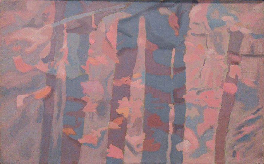 "Rose Reflections   , 1988, Oil on Linen, 10""x16"""