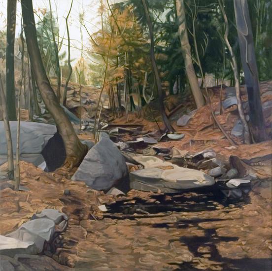 "The Stream  , 1975,Oil on Linen, 70""x70"""