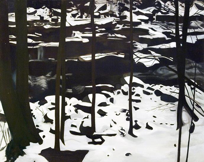 "Through the Trees  , 1977,Oil on Linen, 40""x50"""