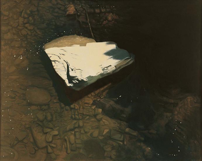 """Last Snow   , 1978,Oil on Linen, 40""""x50"""""""