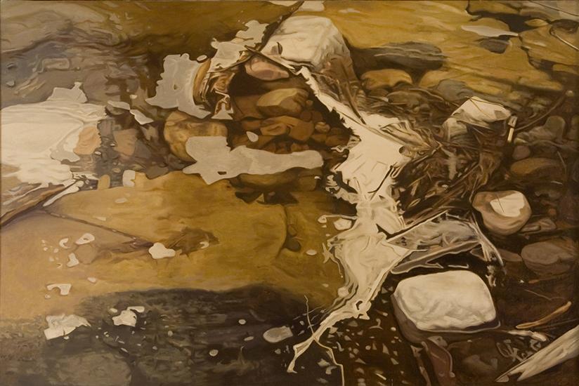 "Clogged Stream II   , 1978,Oil on Linen, 40""x60"""
