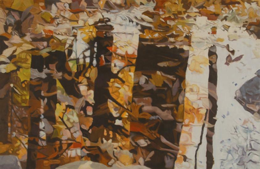 "Fall   , 1993-94,Oil on Linen, 26""x40"""