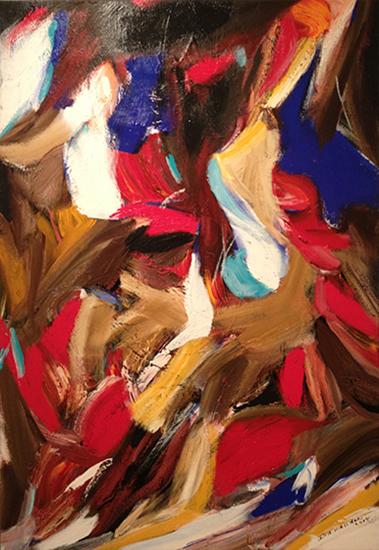"Untitled,   2013,Acrylic on Canvas, 63"" x 44"""