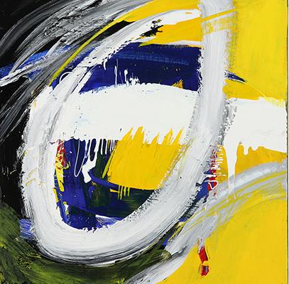 "Untitled,   2013,Acrylic on Steel, 18"" x 18"""