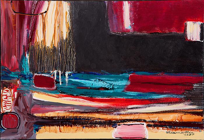 "Untitled,   2010,Acrylic on Canvas, 28.6"" x 20.9"""