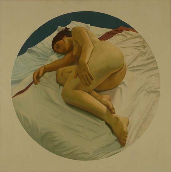 """Wendy   , Oil on Linen, 36"""" x 36"""", 1973"""