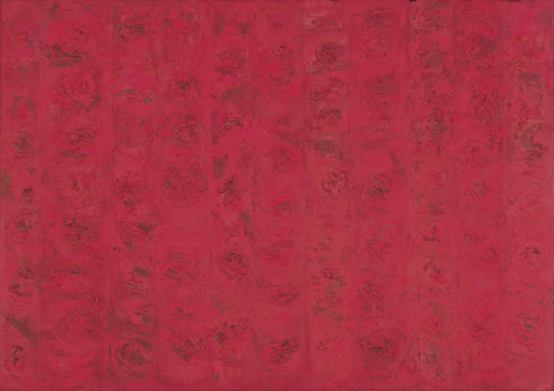 """Compassion-Red   , 1955,Oil on Linen, 50"""" x 72"""""""