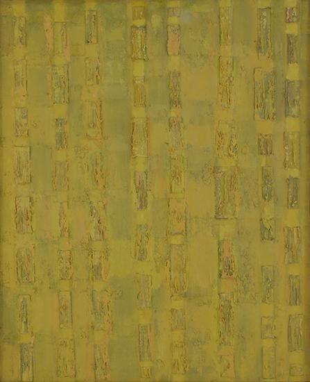 """Compassion Theme - Box Lids   , 1956,Oil on Linen, 44"""" x 36"""""""