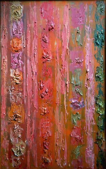"Varied Theme   , circa 1955,Oil on Linen, 46"" x 30"""