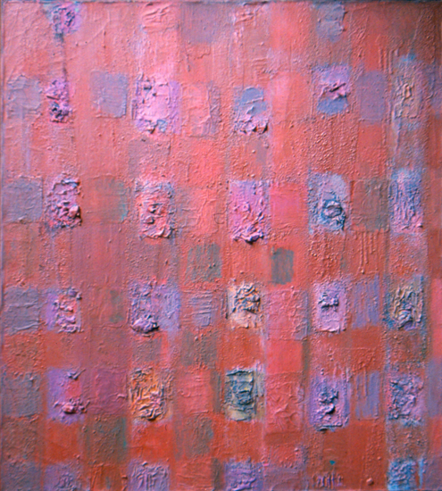 """Compassion Theme with Marble Dust   , 1959-56,Oil on Linen, 38"""" x 34"""""""