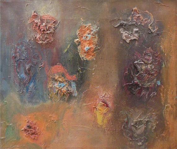 "Meditation   , 1960,Oil on Linen, 12"" x 14"""