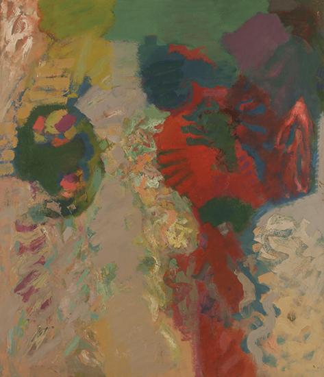 "Decentergration   , 1960,Oil on Linen, 84"" x 72"""