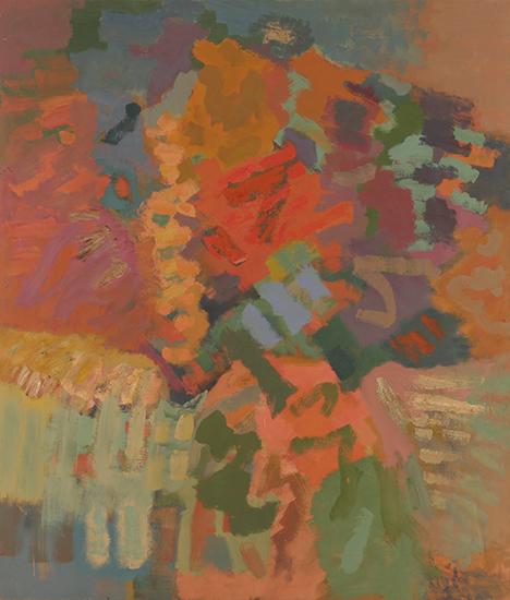 "Compassion Autumn   , 1960,Oil on Linen, 84"" x 72"""