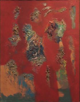 """Rising   , 1965,Oil on Linen, 32"""" x 25"""""""