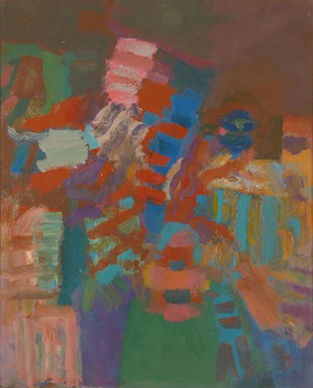 """Guardian Angel   , 1950,Oil on Linen, 52"""" x 42"""""""