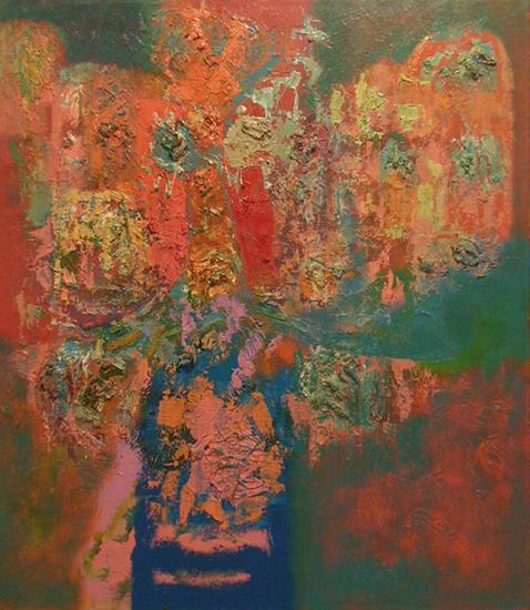 "Bouquet   , 1960,Oil on Linen, 36"" x 32"""
