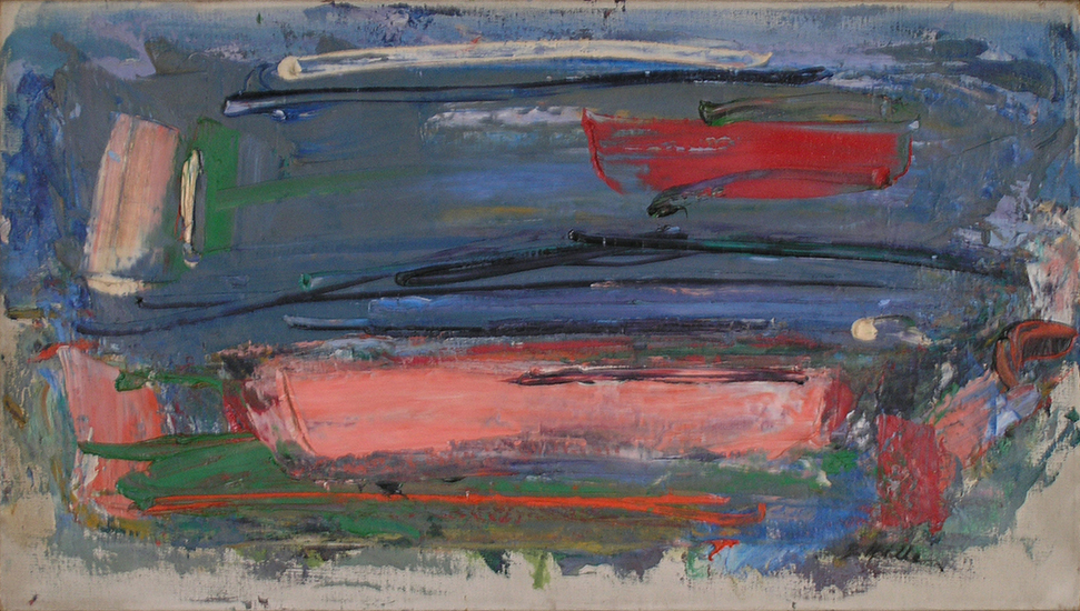 "Mood of the Wind   , 1957, Oil on Linen, 25"" x 14"""