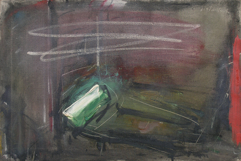 "The Emerald Couch  , 1959, Oil on linen, 26"" x 30"""