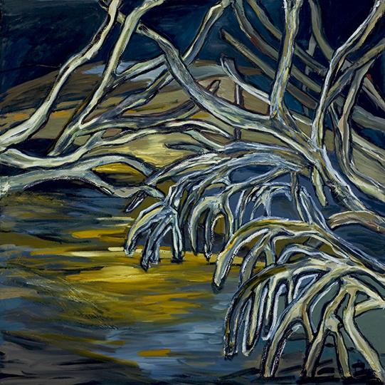 "Mangroves VI   , 2006,Oil on Canvas, 72"" x 72"""