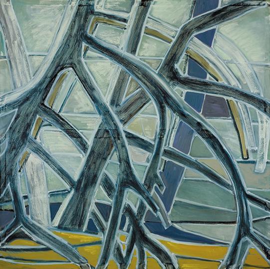 """Mangroves V   , 2006,Oil on Canvas, 72"""" x 72"""""""