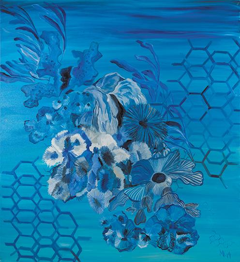 """Oceana   , 2014,Oil on Canvas, 65"""" x 65"""""""