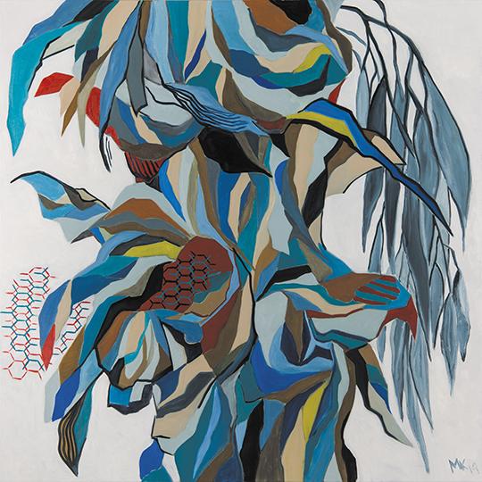 """Oasis II   , 2014,Oil on Canvas, 48"""" x 48"""""""