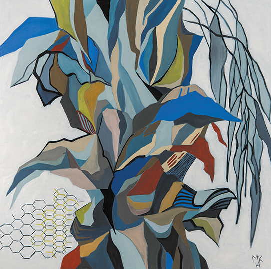 "Oasis III   , 2014,Oil on Canvas, 48"" x 48"""