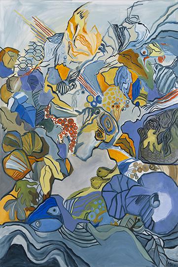 "Genesis VII   , 2011,Oil on Canvas, 72"" x 48"""
