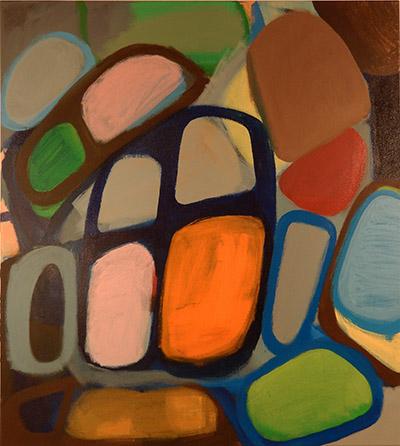 "Untitled  , 2015, Acrylic on canvas, 40"" x 36"""