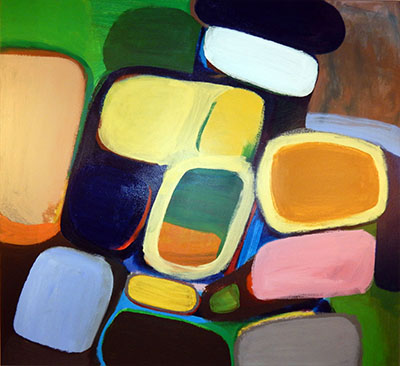 "Untitled  , 2015, Acrylic on canvas, 48"" x 44"""
