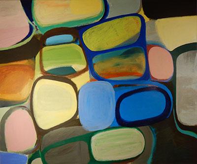 "Untitled  , 2015, Acrylic on canvas, 60"" x 72"""