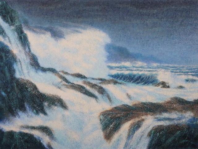 """Bold Coast  , 2013, Oil on canvas, 36"""" x 48"""""""