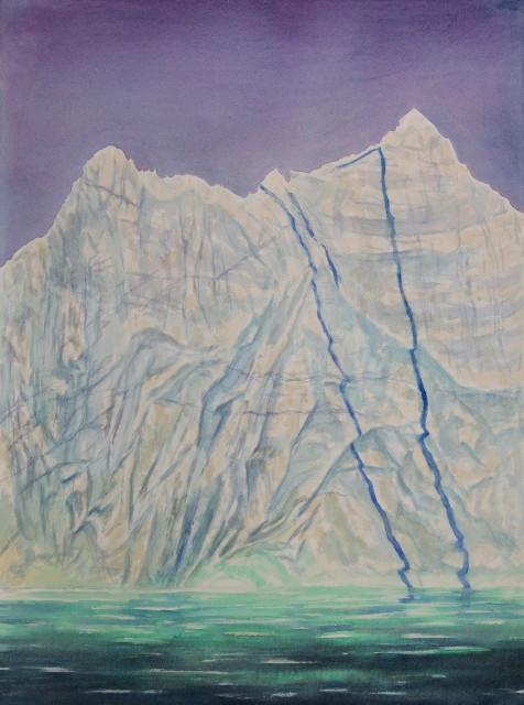 """Nameless Berg,   Oil on canvas, 22"""" x 30"""""""