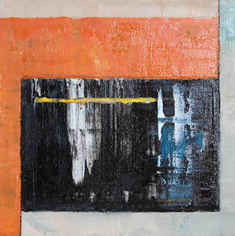"Doug Frohman,   Hypnosphere  , 2012, Oil on wood panel, 12"" x 12"""