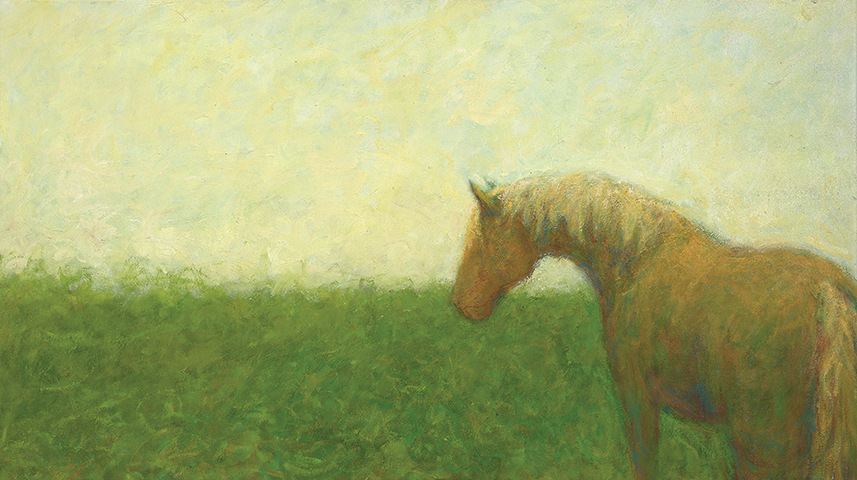 """To the distant field  , 2012,oil on canvas,24"""" x 48"""""""