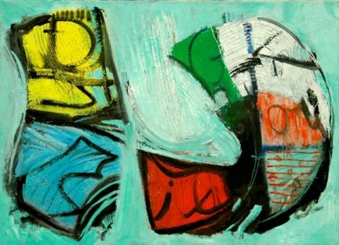 Dina Gustin Baker   Leo's Delight , 2010, Oil on Canvas, 35.5'' x 51.5''