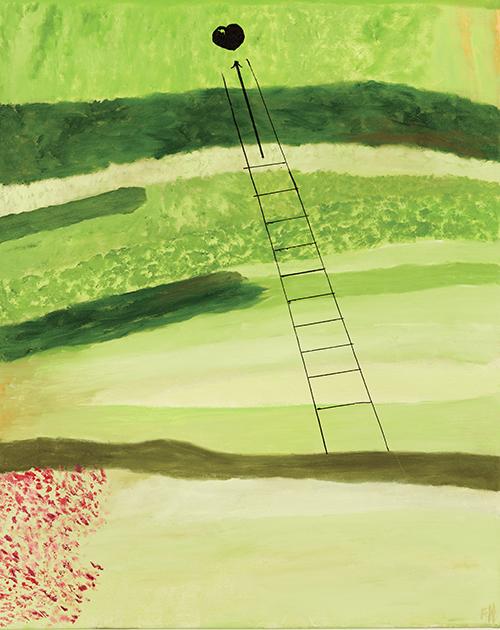 "Love Nest , oil on canvas, 30"" x 24"", 2015"