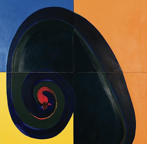 "Rondalay , oil on canvas, 40"" x 40"", 1971"