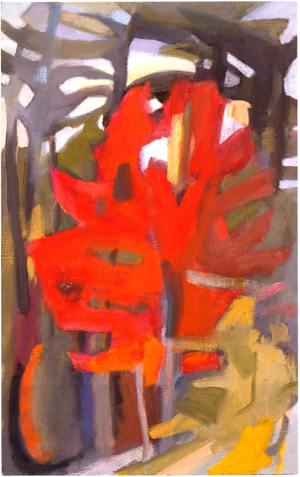 """Fall Fire    oil on canvas, 16""""x10"""", 2004"""