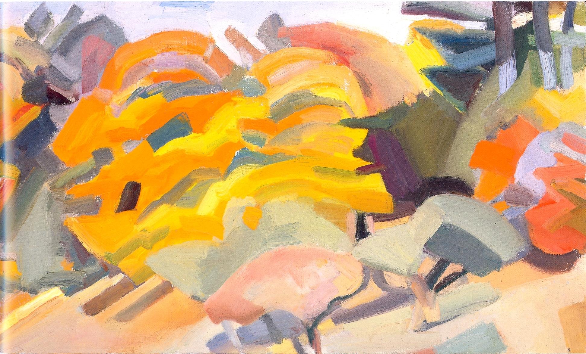 """Autumn Maples II    oil on canvas, 12""""x20"""", 2004"""