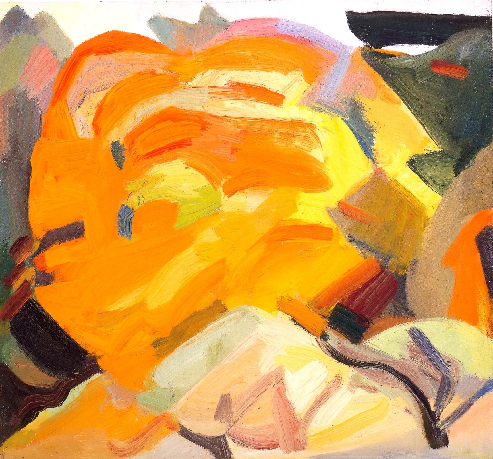 """Autumn Maples III    oil on canvas, 12""""x13"""", 2004"""