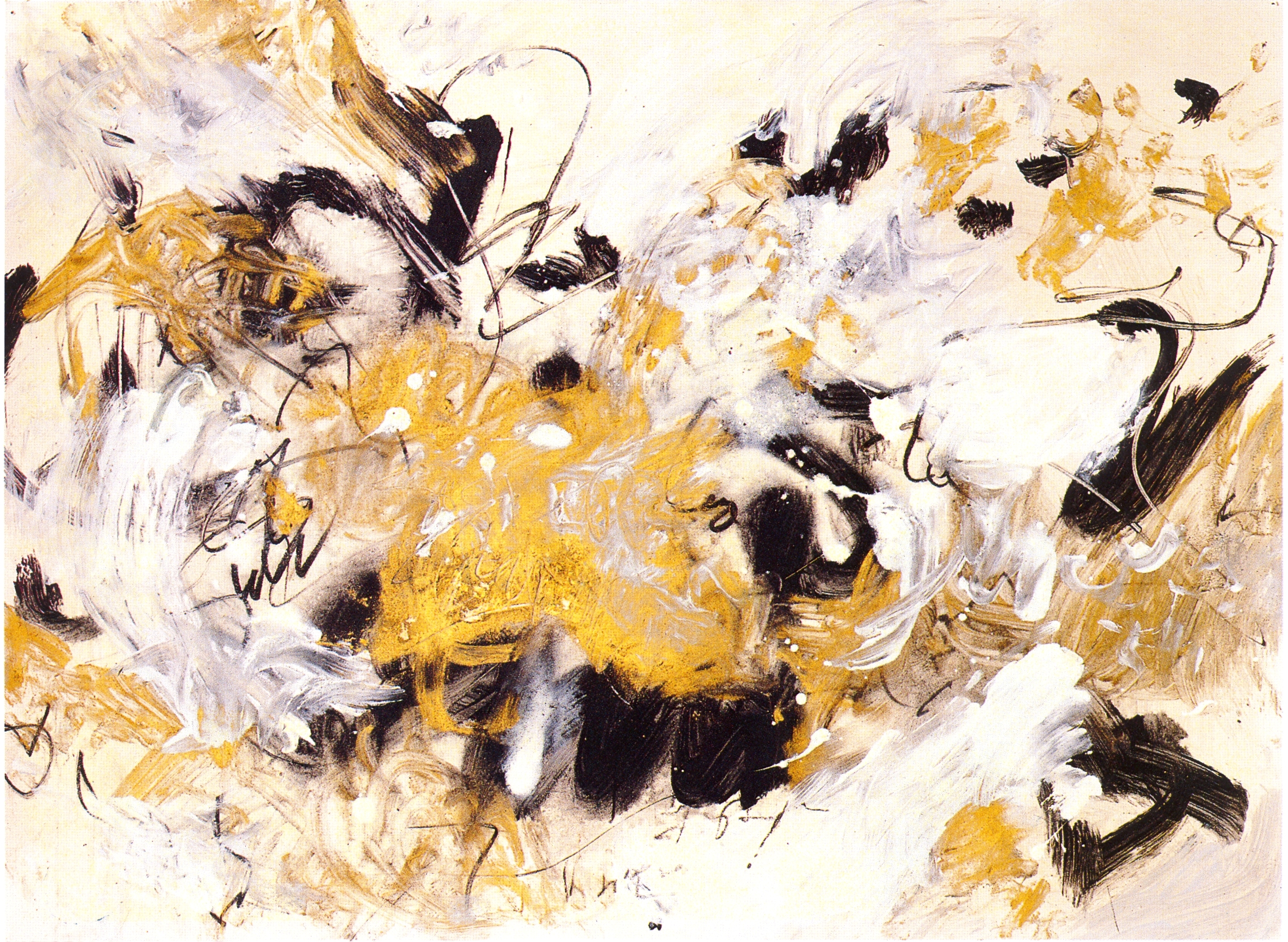 """Barbara Bartholomew,  """"Eight Sacred Caves"""" Series  Peonies Bloom in the Winter,   2002, Mixed Media on Paper, 22"""" x 30"""""""