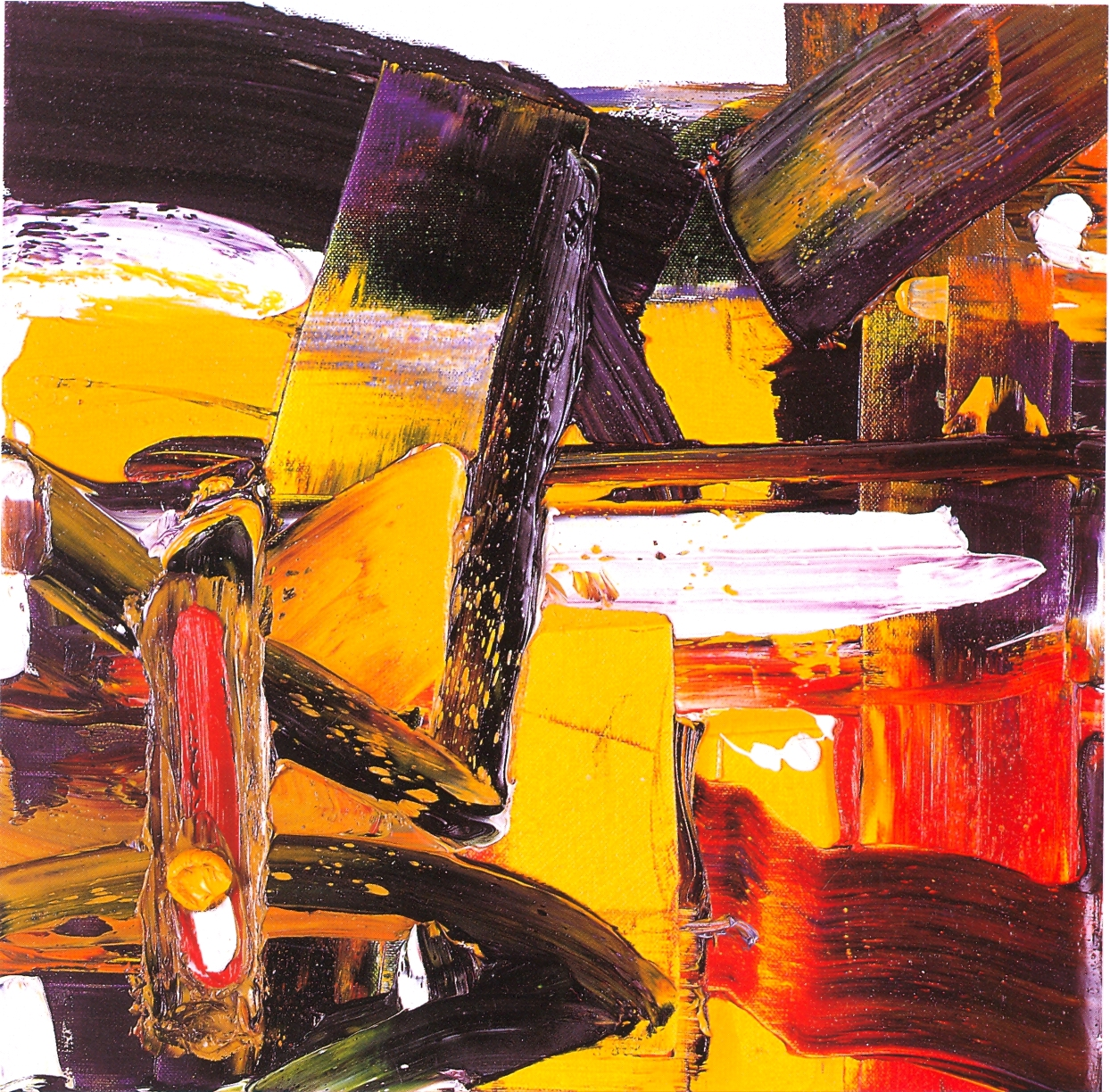 "Philippa Blair,   Piazza,   2002, Oil on Canvas, 16"" x 16"""