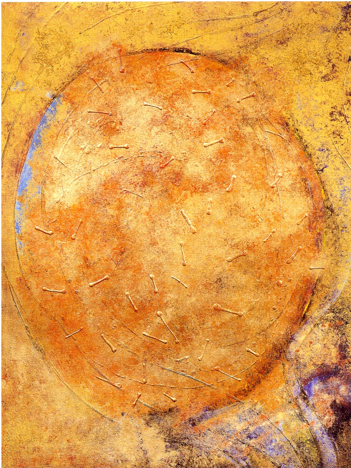 "Fran Bull,   Eclipse,   2002, Acrylic & Mixed Media on Canvas, 48 1/4"" x 36"""