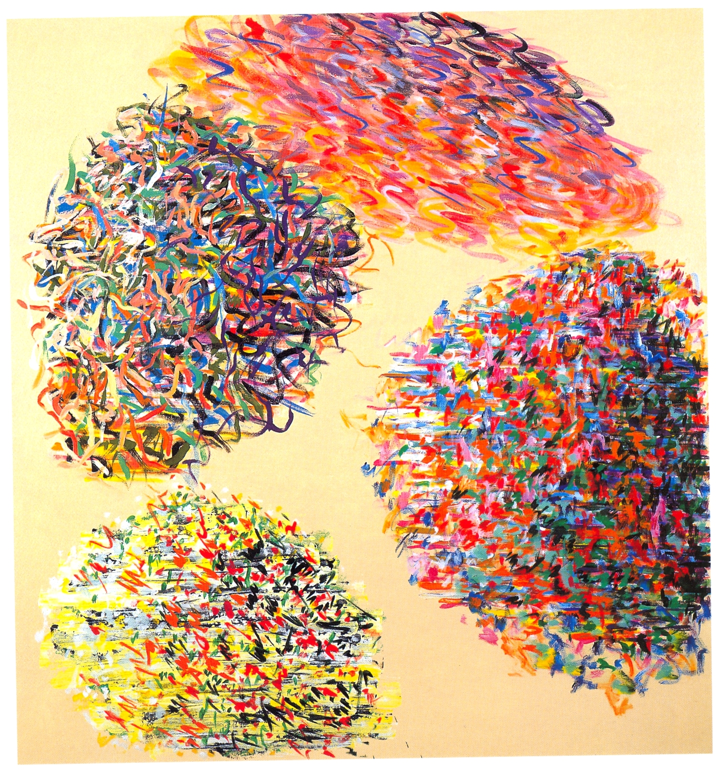 "Don Lewallen,   Flowers As Big As The Sun,   2000, Acrylic on Canvas, 54"" x 50"""