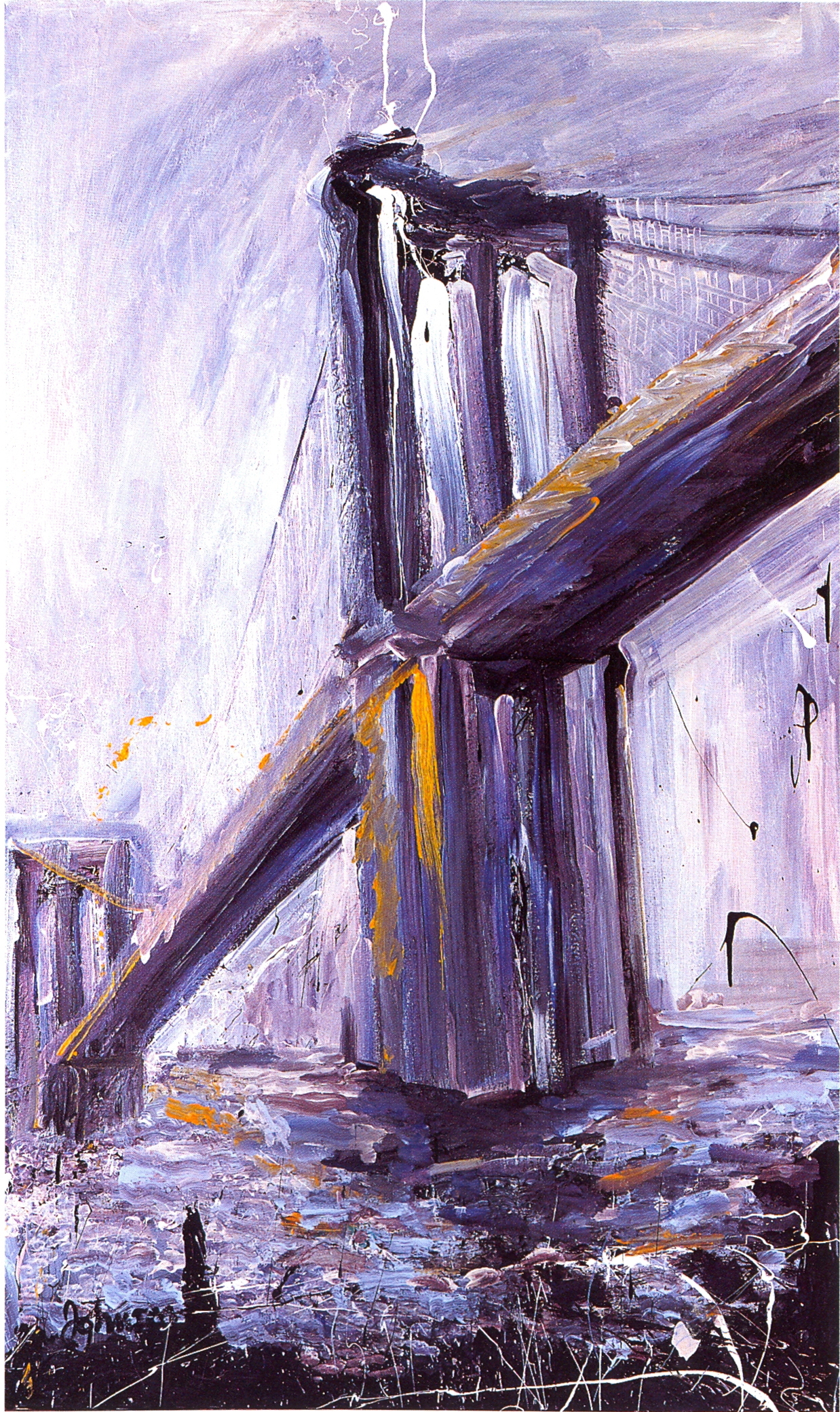 """Cutwater,   2002, Acrylic on canvas, 60"""" x 36"""""""
