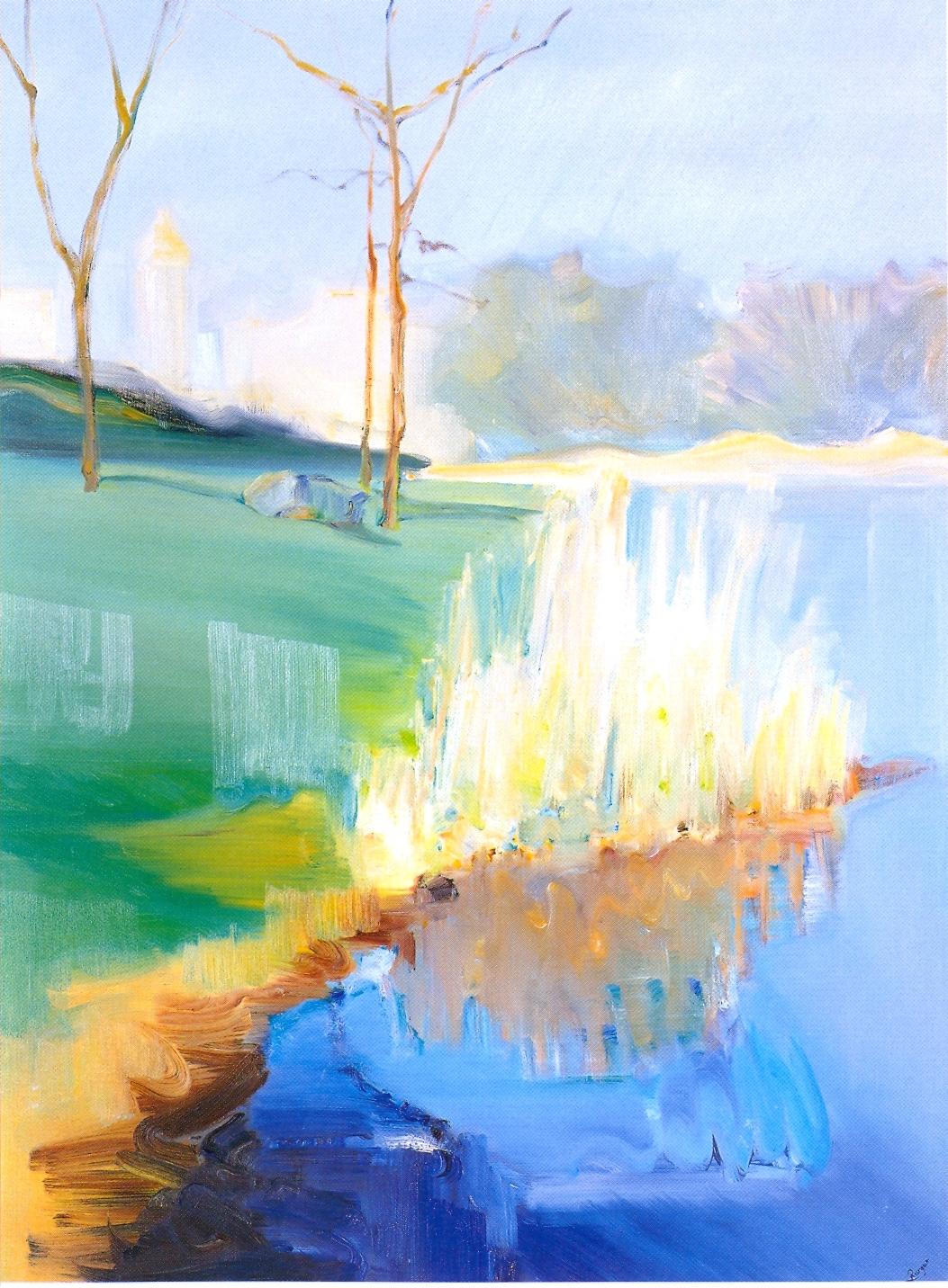 """Central Park - Autumn 8,   2002, Oil on canvas, 40"""" x 30"""""""
