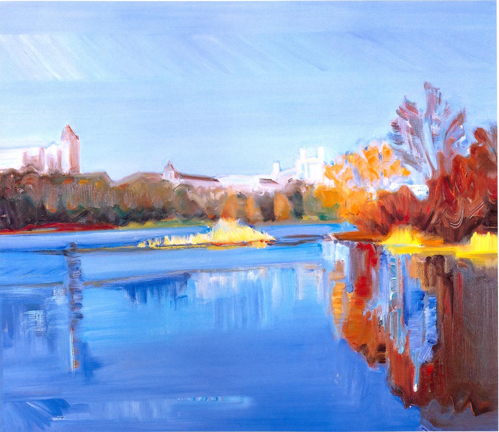 """Central Park - Autumn 5,   2002, Oil on canvas, 36"""" x 48"""""""