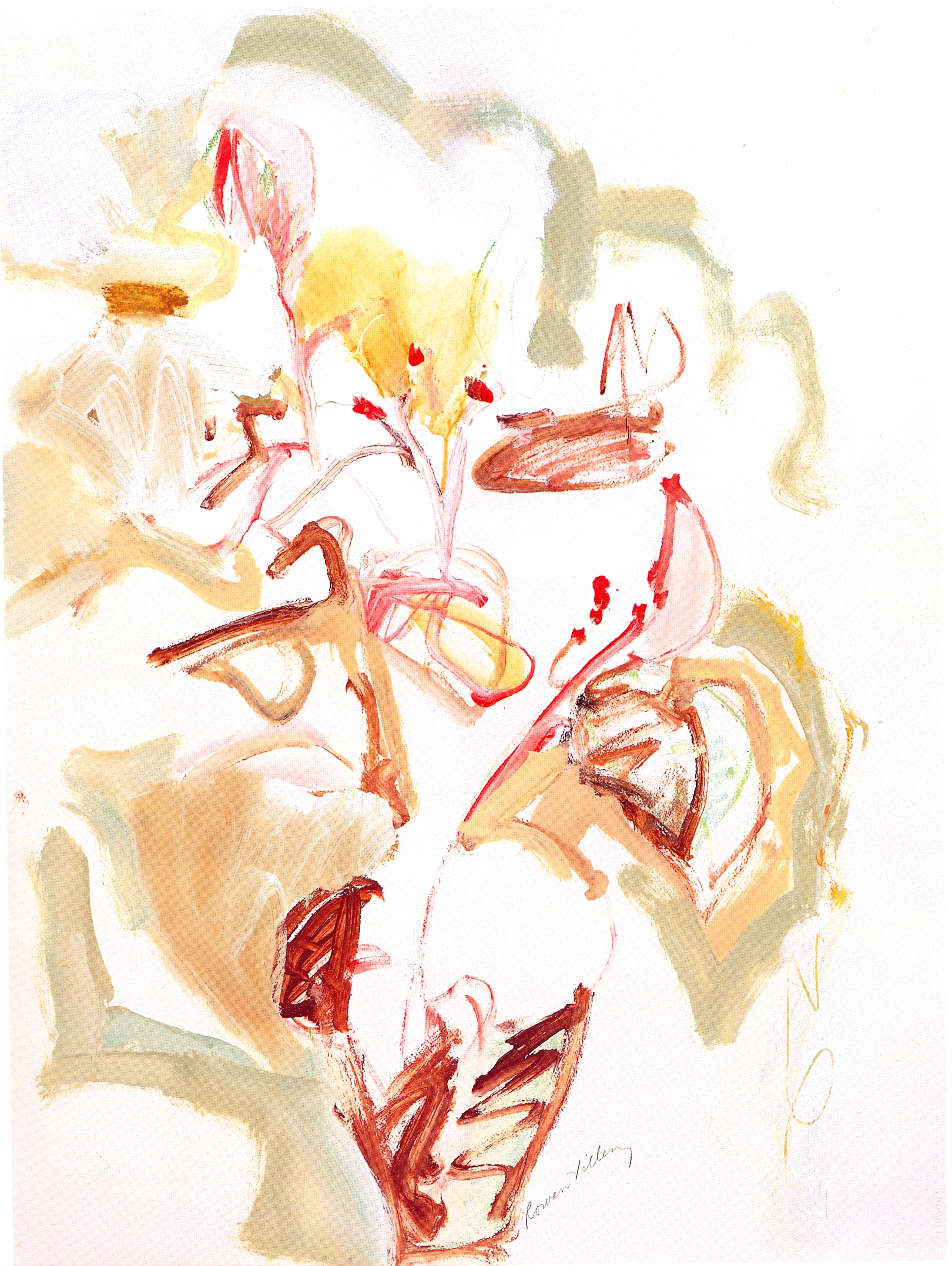 """Tiger Lily II,   2002, Acrylic on paper, 30"""" x 22"""""""